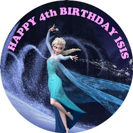 Disney Frozen Elsa Edible Cake Topper